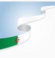 algerian flag wavy abstract background