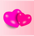 balloon in heart shape valentines day design vector image