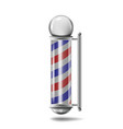 barber pole isolated vector image vector image