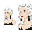 beautiful woman wearing stylish jewelry vector image vector image