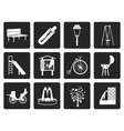 Black Park objects and signs icon vector image vector image