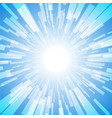 blue burst ray light stripe vector image vector image