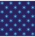 Blue spiny snowflake wrapping vector image vector image