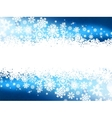Blue winter background snowflakes EPS 8 vector image