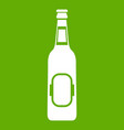 bottle of beer icon green vector image