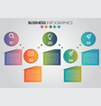 business infographics circle 5 steps timeline vector image vector image