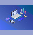 business strategy and planning data and vector image