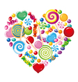 candy heart white vector image vector image