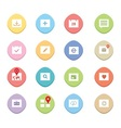 Clean web icons vector image vector image
