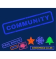 Community Rubber Stamp vector image vector image