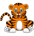 cute young tiger cartoon expression vector image vector image
