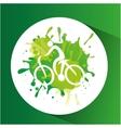 cycling symbol label laurel wreaths vector image vector image