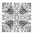 doodad is a square pattern vintage engraving vector image vector image