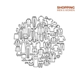 Fashion and shopping concept with clothes thin vector image
