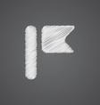 flag sketch logo doodle icon vector image vector image