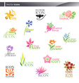 Flowers - logo template set vector | Price: 1 Credit (USD $1)