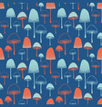 fly agaric mushrooms seamless pattern vector image vector image