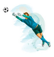 football goalkeeper jump vector image vector image
