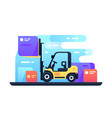 forklift in stock vector image vector image