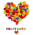 fruit love concept vector image