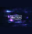 glitch digital background video problem with vector image vector image