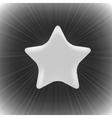 Grey Star vector image