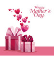 happy mothers day invitation decoration hearts vector image vector image