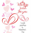 happy valentine wish for you vector image vector image