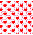 heart red on white seamless pattern fashion vector image vector image