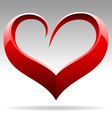 heart shape sign vector image vector image