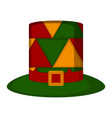 isolated colored carnival hat vector image vector image