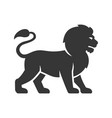 lion logo icon on white background vector image vector image