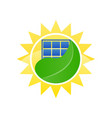 logo ecological solar energy vector image