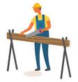 man working on construction new item carpenter vector image