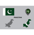 Map of Pakistan and symbol vector image vector image