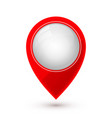 map pointer icon in flat style with shaddow vector image vector image