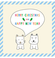 MC and HNY greeting card13 vector image