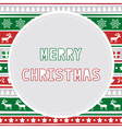 Merry Christmas greeting card28 vector image vector image