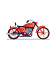motorbike red biker motorcycle with flame vector image vector image