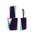 nail polish sign colorful icon shaked vector image vector image