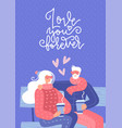 old couple in love sitting on bench elderty man vector image
