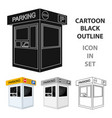 parking toll booth icon in cartoon style isolated vector image vector image