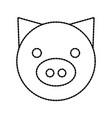 pig domestic farm animal mammal vector image