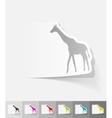 realistic design element giraffe vector image vector image