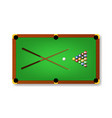 realistic detailed 3d pool billiard green table vector image vector image
