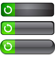 Refresh button set vector image vector image