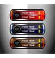 scoreboard sport design elements vector image