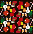 seamless pattern merry christmas and new year vector image vector image