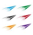 set colorful paper planes vector image