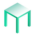 stool icon isometric style vector image vector image